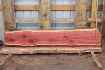 "Cedar 281-5  Length 8' 6"" Max Width (inches) 17 Min Width (inches) 14 Thickness 8/4  Notes : Kiln Dried"