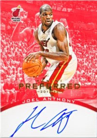 12/13 Preferred Red Joel Anthony Auto