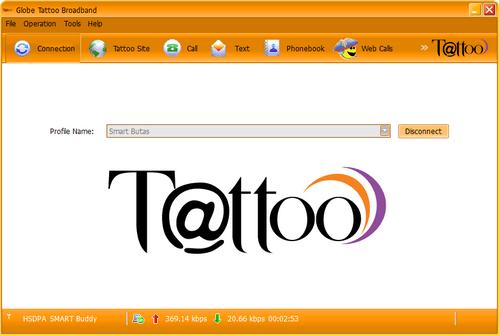 Globe Tattoo With Smart Sim Inserted