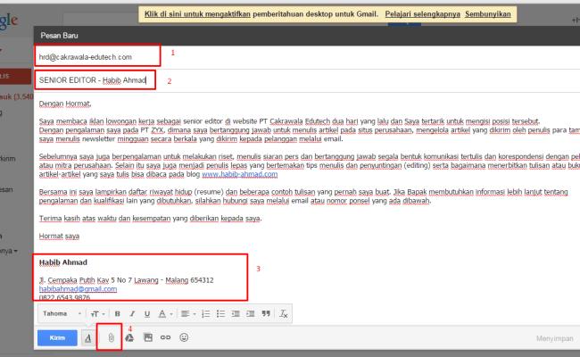Contoh Surat Lamaran Kerja Via Email Yang Baik Dan Benar Berbagi Contoh Surat Cute766