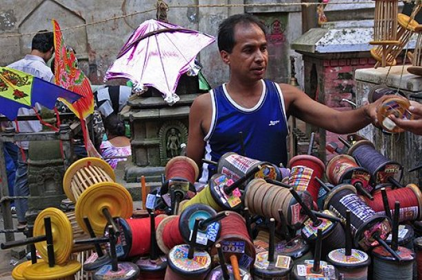 kite seller nepal
