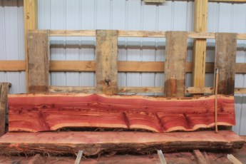 "Cedar 283-3  Length 10' 6"" Max Width (inches) 20 Min Width (inches) 10 Thickness 8/4  Notes : Kiln Dried"