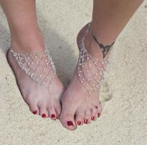 Christina' Bridal Flip Flops - Beach