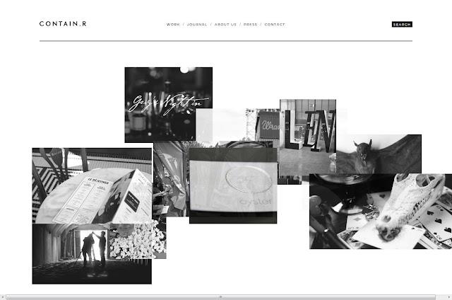 *充滿雜訊效果的灰色時尚:Contain.r Web Site 2