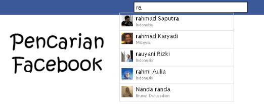 Pencarian Facebook