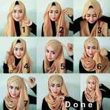 criss cross hijab style for 2016 2017