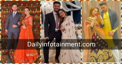 Newly Wed Couple Fiza Khawar with her husband spotted at a Wedding Event