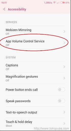 cara mengatur volume setiap aplikasi yang ada di android