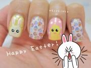 happy easter nail art - chichicho