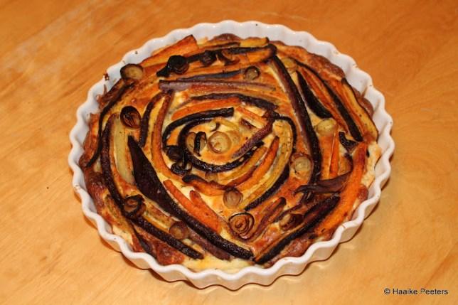 Quiche met geroosterde wortelen (De moestuin van Mme Zsazsa)