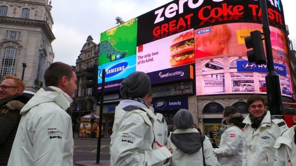 Samsung Angry Birds All Star Final - Piccadilly Circus
