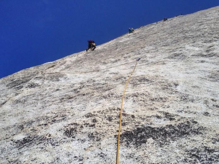 Climbers on Snake Dike