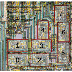Simple Wiring Diagram Of Fridge 1996 Grand Cherokee Arrangement The Eight Alu Slices On 8008 Microprocessor Die. Unlike Most Processors, ...