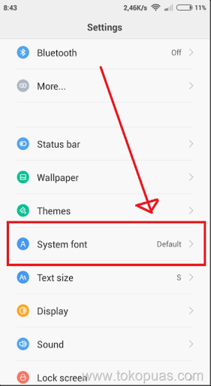 cara custom font xiaomi smartphone