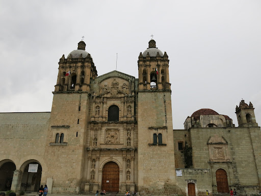 Templo de Santo Domingo, Oaxaca. This used to be a Dominican mission (Dominicans had the Oaxaca region of Mexico). The left part is now the Santo Domingo Cultural Centre while the right side is still used as a church.