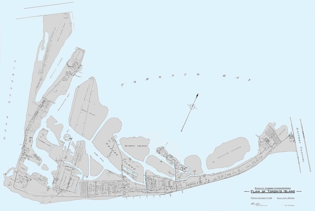 1918 Plan of Toronto Island (detailed), Toronto Harbour Commissioners