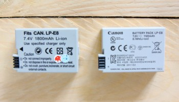 LP-E8 replacement battery
