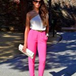 cute spring outfit with colored jeans 2016