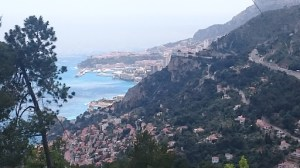 View of Monaco from path down to Roquebrun