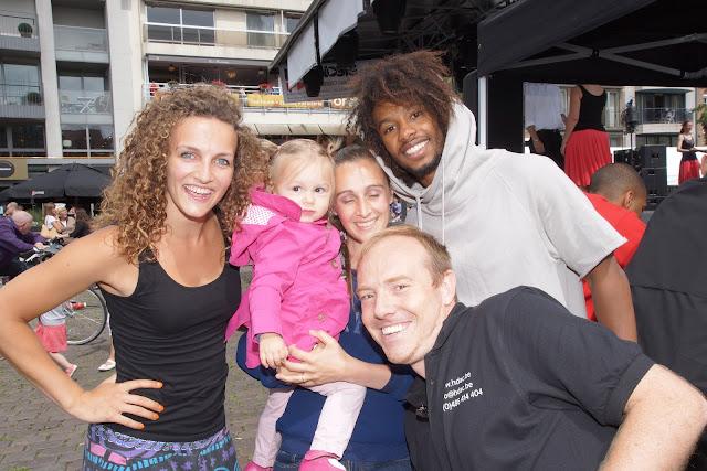 Morgane en Malik uit So you think you can dance met Steve Burggraeve en Sally Peire van Hypnosis Dance Academy