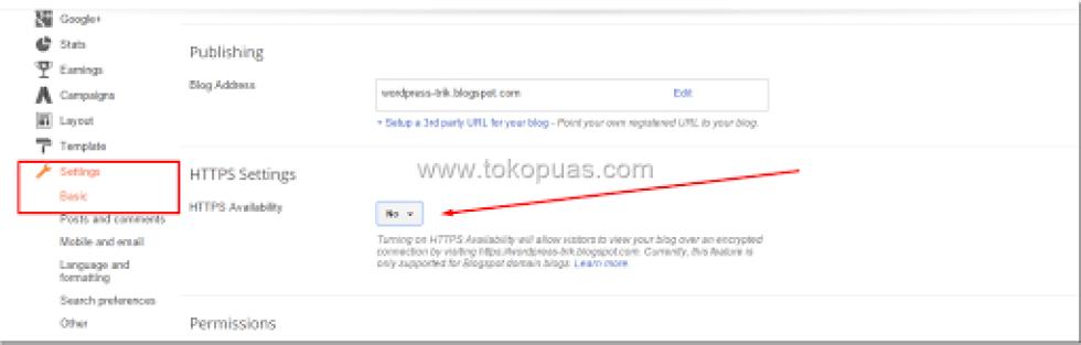 trik mengaktifkan https di blogger