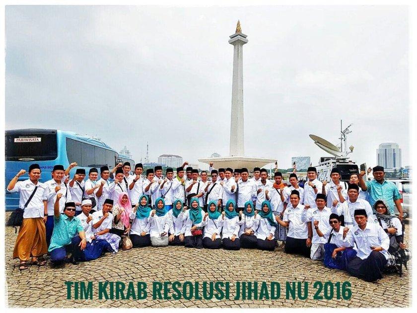 Tim Kirab Resolusi Jihad NU 2016. Foto: @hamdhan_amy.