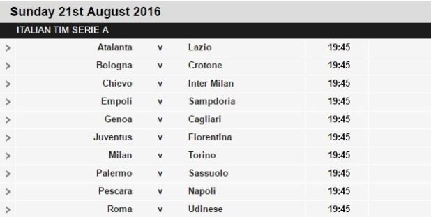 Italia serie a league table - Italian league fixtures and table ...