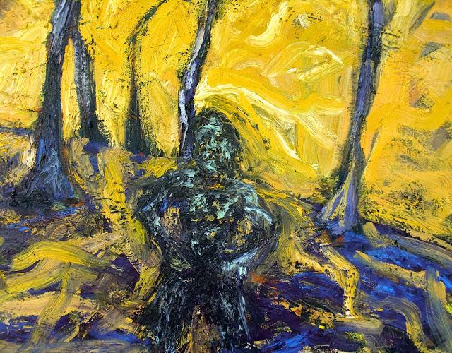 Hot Sun, Strong Man, Melting Trees - detail