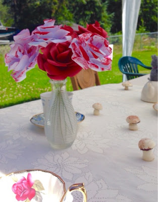 Mad Hatter Tea Party Red Roses