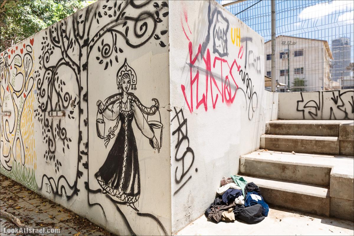 Граффити Тель Авива с коромыслом