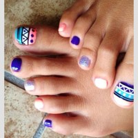 Tribal Toe Nail Designs For This winter - Fashion 2D