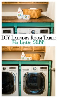 DIY An Oversized Table For The Laundry Room For Under $100 ...