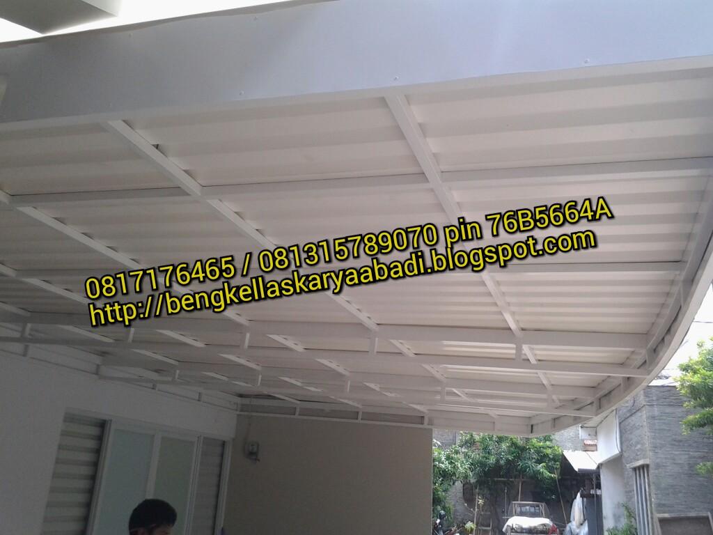 kanopi gantung baja ringan bengkel las karya abadi : minimalis alderon ...