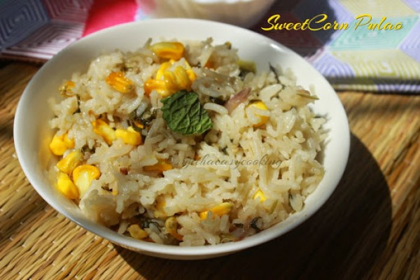 SweetCorn Pulao1