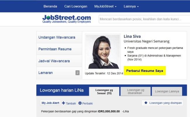 Contoh Resume Untuk Jobstreet Virallah Cute766