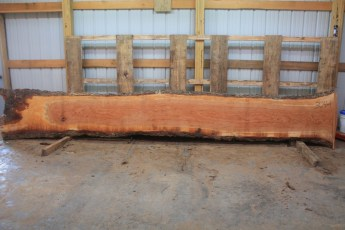 Cherry Wavey 304-1  Length 17' , Max Width (inches) 26 Min Width (inches) 20 Thickness 8/4  Notes : Kiln Dried