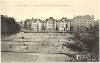 Lawntennis-Plätze mit Blick auf Christian- und Liviastrasse