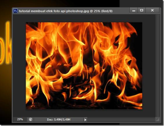 trik membuat tulisan teks api terbakar photoshop