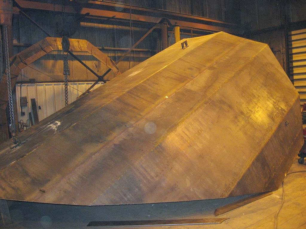 Like all other pieces of Spray-Cooled equipment our BOF hoods are also fabricated from thin carbon steel plate to reduce emission leakage, lower weight, and simplify repairs.