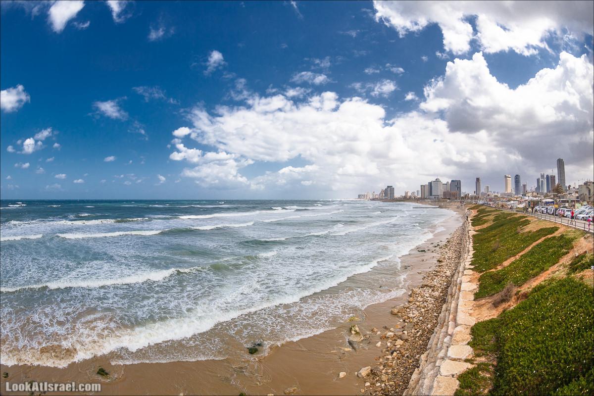 Тель-Авивское побережье - взгляд из Яффо. LookAtIsrael.com - Фото путешествия по Израилю и не только...