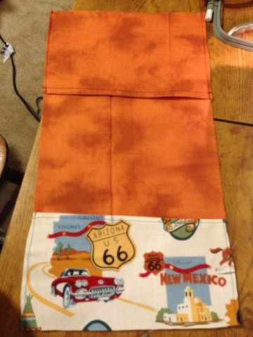 Sew pockets onto the inner fabric.