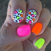 awesome neon summer nail art design