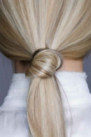Knotted Low Ponytial Hairstyle