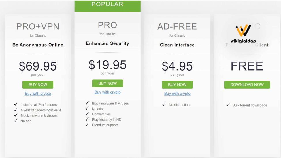 utorrent pro pricing
