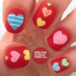 Newest Candy Heart Nail Art Ideas