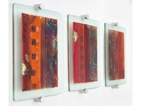 Original Fused Art glass wall panel | eBay