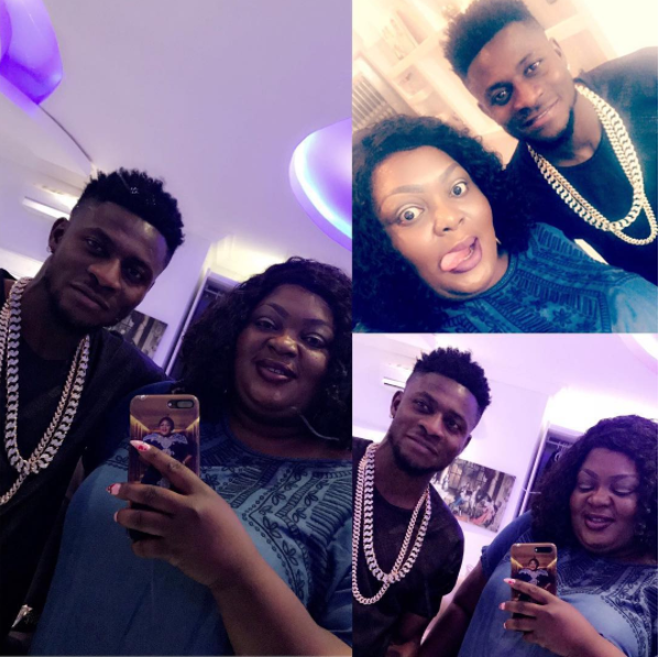 Eniola Badmus Hangs Out With Obafemi Martins