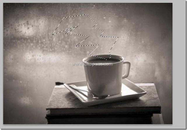 trik membuat efek foto asap uap di gelas kopi