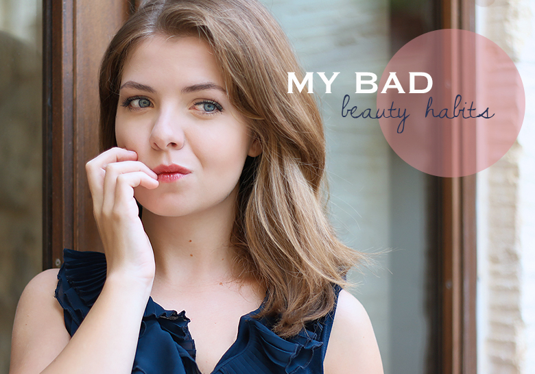 Charlotte from The Blue Dress Girl is talking about her bad beauty habits.
