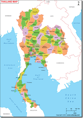 Letak Astronomis Thailand : letak, astronomis, thailand, Geografi, Thailand, Geografi.org